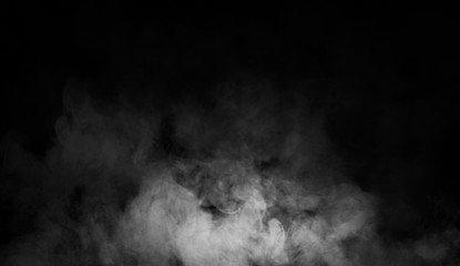 Abstract smoke mist fog on a black background. Texture. Design element