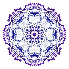 Pattern of mandala. Vector illustration. Modern Decorative floral color mandala. Decorative Cicle ornament. Floral design. Anti-stress therapy pattern.