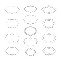 set of frames isolated vector illustration