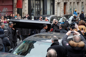 Funeral of Oscar-crowned French composer Michel Legrand in Paris