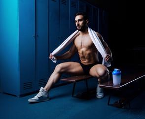 man  in the locker room