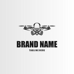 Skull Drone Logo, Vector Logo