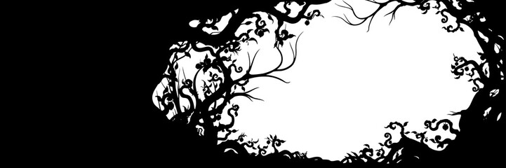 Fantasy branched frame background Wall mural