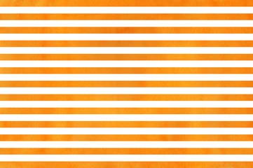Watercolor orange striped background. Watercolor geometric pattern.