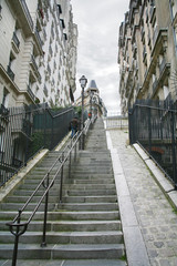Stairs on Montmartre Paris