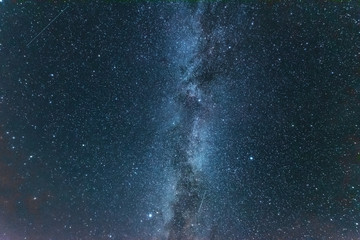 Bright night starry sky with millions of stars and galaxy Milky Way.