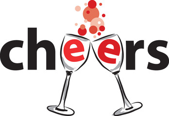 cheers illustration vector illustration