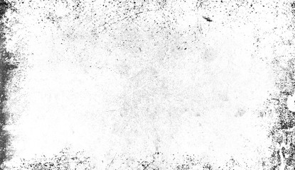 White texture of scratches, chips, scuffs, dirt on old aged surface. Isolated on background space for text