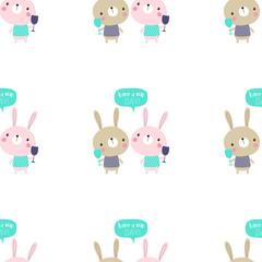 seamless bunny pattern