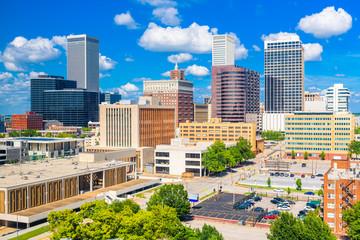 Fotomurales - Tulsa, Oklahoma, USA downtown city skyline