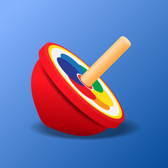 Top spinning toy vector illustration.