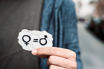 gender equality in a piece of paper