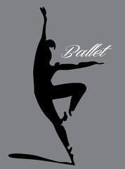 ballet dancer silhouette 2 lettering