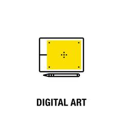 DIGITAL ART ICON CONCEPT