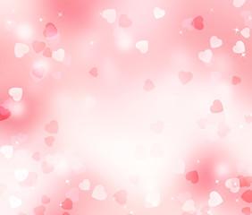 Valentine  blurred hearts background.