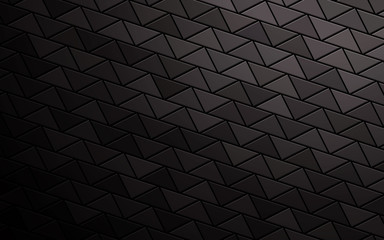 Abstract triangle black background. Triangle texture effect.