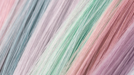 fashion colors for hair coloring. Fresh colors. Pastel trend.