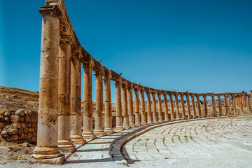 Ancient Jerash ruins,(the Roman ancient city of Geraza), Jordan Fototapete