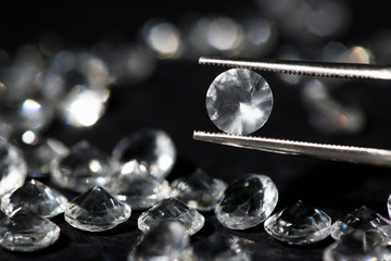 Scattering of white star diamonds on black
