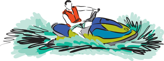 JET SKI ILLUSTRATION