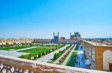 Naqsh-e Jahan Square from Ali Qapu Palace, Isfahan, Iran