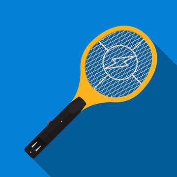 Electric mosquito swatter vector flat design.