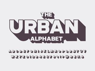 Vector of retro bold alphabet design