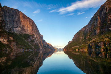 Morning at Lysefjord Forsand Rogaland Norway Scandinavia