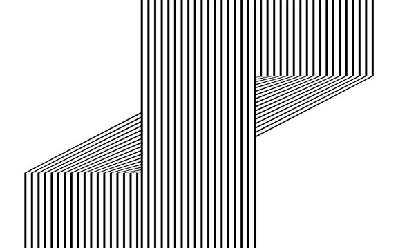 black and white line  stripe wave abstract background