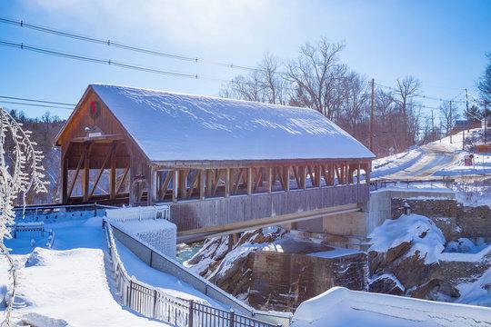 Quechee Covered Bridge Winter