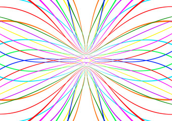 Bright abstract colorful lines pattern