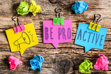 Note Post-it : be proactive