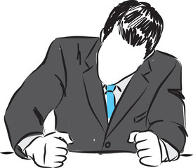 angry businessman illustration