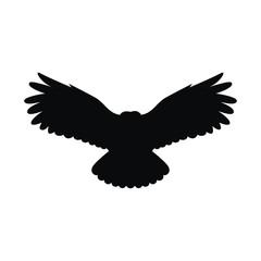 Силуэт летящей совы