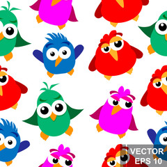 Funny bird. Cartoon style. Bright. Happy. For your design.