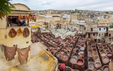 Curtidores del cuero Fez