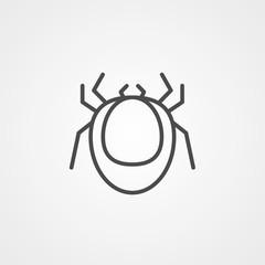Mite vector icon sign symbol
