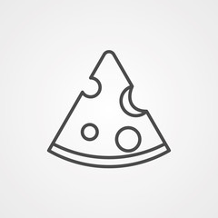 Cheese vector icon sign symbol