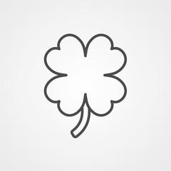Clover vector icon sign symbol
