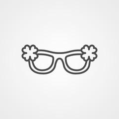 Sunglasses vector icon sign symbol