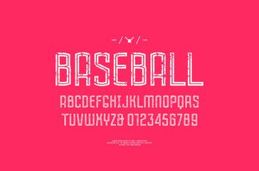 Hollow sans serif font in the sport style