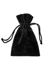 velvet black pouch isolated on white