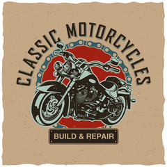 Classic Motorcycles Poster