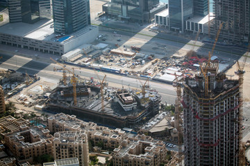 The view from Burj Khalifa in Dubai