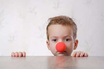 nose clown background white child. kid color.