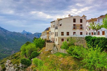 Guadalest Dorf in den Felsen, Costa Blanca in Spanien - Guadalest, Village in rocky mountains, Costa Blanca