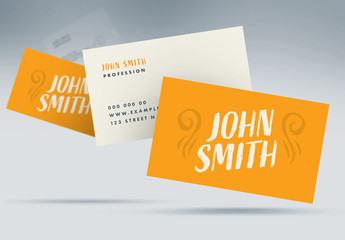 Orange and Cream Business Card Layout