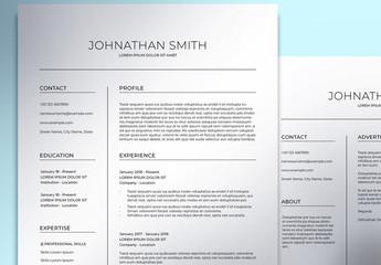 Minimalist Resume Layout