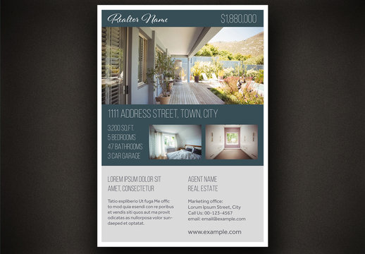 Beige and Dark Green Flyer Layout