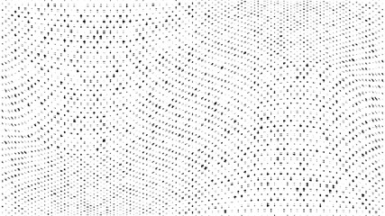 Abstract dots background. Monochrome grunge dirt texture. Halftone Pop Art comic pattern. Small Polka dot. Geometric wave vector pattern. Template for presentation flyer, business cards, report fabric